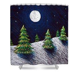 Christmas Trees II Shower Curtain by Nancy Mueller