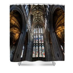 Church Interior Shower Curtain by Adrian Evans