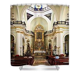 Church Interior In Puerto Vallarta Shower Curtain by Elena Elisseeva