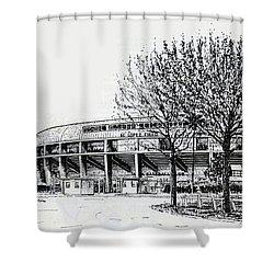 Cincinnati Reds/al Lopez Stadium Tampa Florida Shower Curtain by Frank Hunter