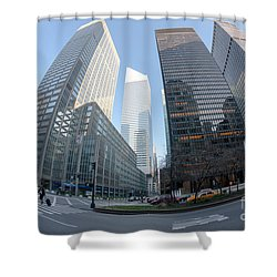 Citigroup Center From Park Avenue I Shower Curtain by Clarence Holmes