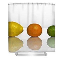 Citrus Fruits Shower Curtain by Joana Kruse