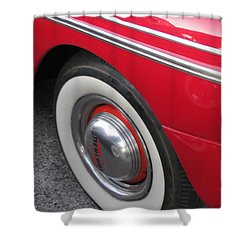Classic Car Mercury Red 1 Shower Curtain by Anita Burgermeister