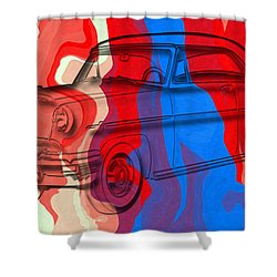 Classic Mercury Abstract Shower Curtain by David G Paul