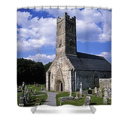 Clonfert Cathedral, Clonfert, Co Shower Curtain by The Irish Image Collection