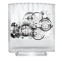 Cloud Made By Gears Wheels  Shower Curtain by Setsiri Silapasuwanchai