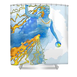 Cloudia Of The Clouds Shower Curtain by Seth Weaver