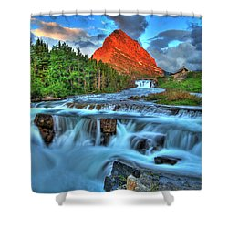 Clouds And Waterfalls Shower Curtain by Scott Mahon