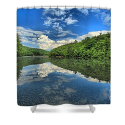 Clouds In The Lake Shower Curtain by Adam Jewell