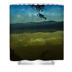 Clouds Trying To Dance In Still Water Shower Curtain by Jeff Swan