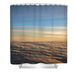 Cloudscape From A 757 Shower Curtain by David Patterson