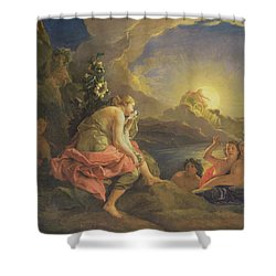Clytie Transformed Into A Sunflower Shower Curtain by Charles de Lafosse