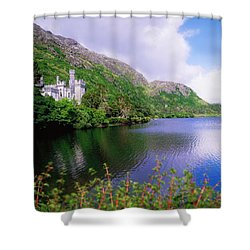 Co Galway, Ireland, Kylemore Abbey Shower Curtain by The Irish Image Collection