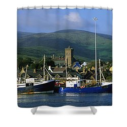 Co Kerry, Dingle Harbour Shower Curtain by The Irish Image Collection