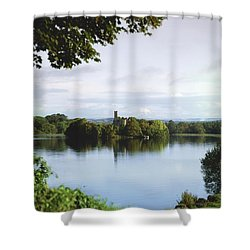 Co Roscommon, Lough Key Shower Curtain by The Irish Image Collection
