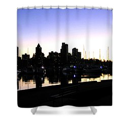 Coal Harbour Shower Curtain by Will Borden