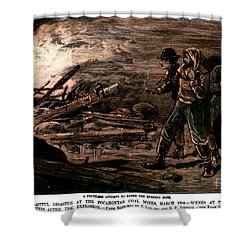 Coal Mine Explosion, 1884 Shower Curtain by Granger
