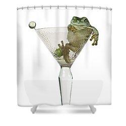 Cocktail Frog Shower Curtain by Darwin Wiggett