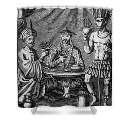 Coffee, Tea & Chocolate, 1685 Shower Curtain by Granger