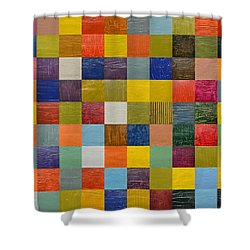 Collage Color Study 108 Shower Curtain by Michelle Calkins