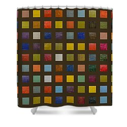 Collage Color Study Lll Shower Curtain by Michelle Calkins