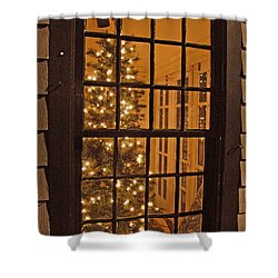 Colonial Christmas Shower Curtain by Joann Vitali