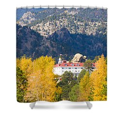 Colorado Estes Park Stanly Hotel Autumn View Shower Curtain by James BO  Insogna