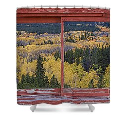 Colorado Red Rustic Picture Window Frame Photo Art Shower Curtain by James BO  Insogna