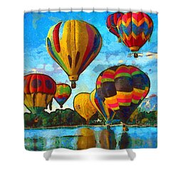 Colorado Springs Hot Air Balloons Shower Curtain by Nikki Marie Smith