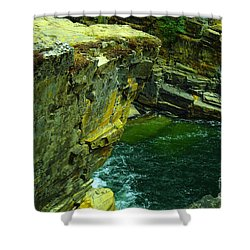 Colored Rocks  Shower Curtain by Jeff Swan