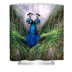Colorful Friendship Shower Curtain by Bill Stephens