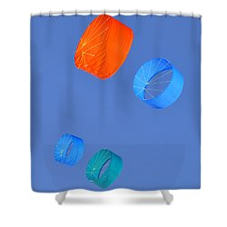 Colorful Kites Shower Curtain by David Lee Thompson