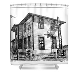 Columbus New Mexico  Shower Curtain by Jack Pumphrey