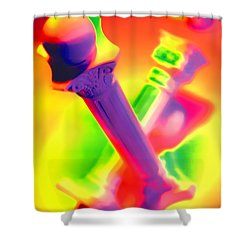 Columns  Shower Curtain by Mauro Celotti