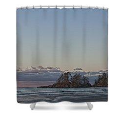 Combers Beach At Dawn, Tofino, British Shower Curtain by Robert Postma