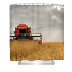 Combine Harvester, North Yorkshire Shower Curtain by John Short
