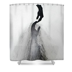 Coming Apart 3 Shower Curtain by Michael Cross