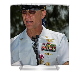 Command Master Chief Bryan Yarbro Shower Curtain by Michael Wood