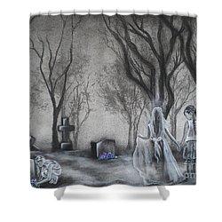Communion Shower Curtain by Carla Carson