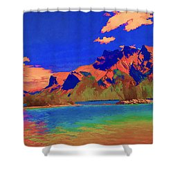 Complementary Mountains Shower Curtain by Jo-Anne Gazo-McKim