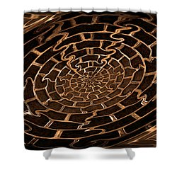 Complicated Journey Shower Curtain by Kristin Elmquist