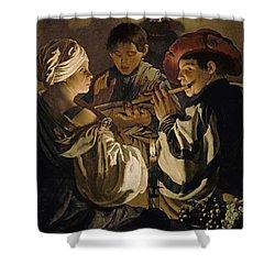 Concert Shower Curtain by Hendrick Ter Brugghen