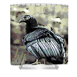Condor Profile Shower Curtain by George Pedro