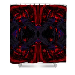 Conjoint - Crimson And Royal. Shower Curtain by Christopher Gaston