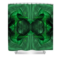 Conjoint - Emerald Shower Curtain by Christopher Gaston