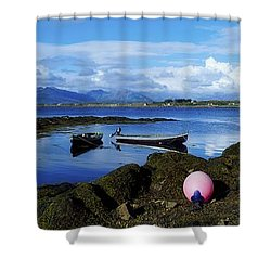 Connemara From Roundstone, Twelve Bens Shower Curtain by The Irish Image Collection