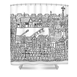 Constantinople, Procession At City Shower Curtain by Photo Researchers