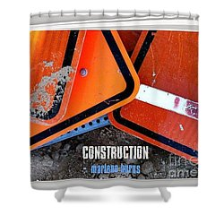Construction  Abstract Photography Book Shower Curtain by Marlene Burns