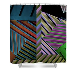 Conundrum Of Color Shower Curtain by Robert Meanor