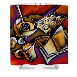 Cooking Shower Curtain by Leon Zernitsky